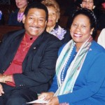 Claude Cummings Jr and Congresswoman Sheila Jackson Lee
