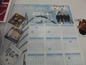 Endurance2014 calendar